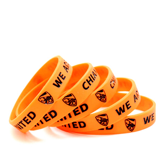 Color Filled Silicone Wristbands