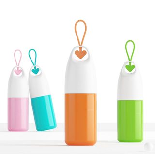 Hearted-Shaped Portable Thermos Water Bottles for Promotion