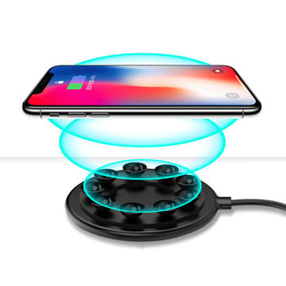 Mini Wireless Charger with Suction Cup