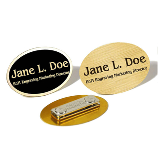 Custom Metal Names Badges