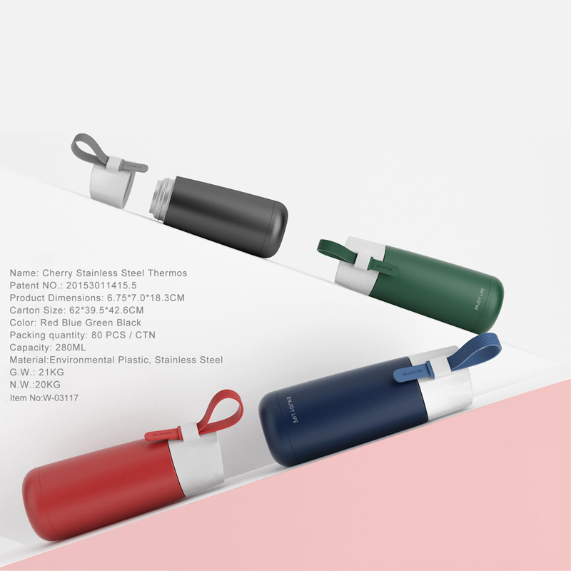 Cherry Stainless Steel Thermos Water Bottles
