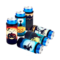 Halloween Beer Can Cooler Bottle Sleeves