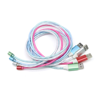 3 in 1 LED 2.0A Flow Light Magnetic USB Charge Cable