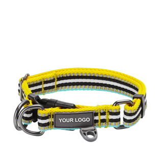 3M Reflective Multi-colored Stripe Dog Collar