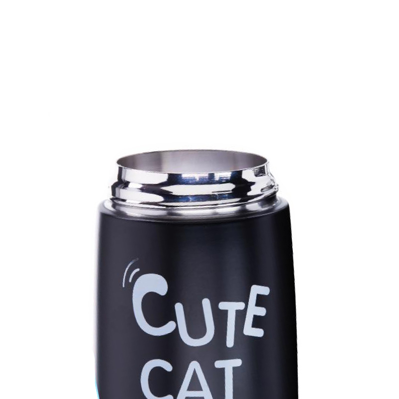 Cute Cat Stainless Steel Thermos Water Bottle for Promotion